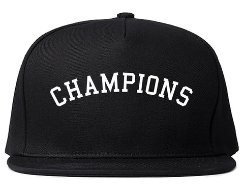 Champions Snapback Hat in Black by Kings Of NY