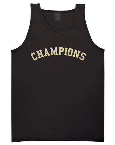 Champions Tank Top in Black by Kings Of NY