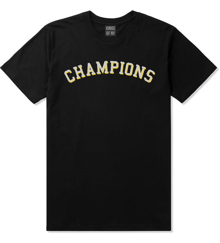 Champions Boys Kids T-Shirt in Black by Kings Of NY