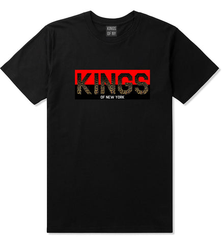 Kings Of NY Cheetah Print T-Shirt in Black
