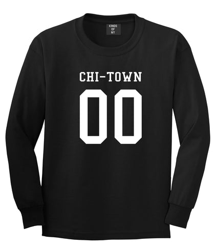 Chitown Team 00 Chicago Jersey Long Sleeve T-Shirt in Black By Kings Of NY