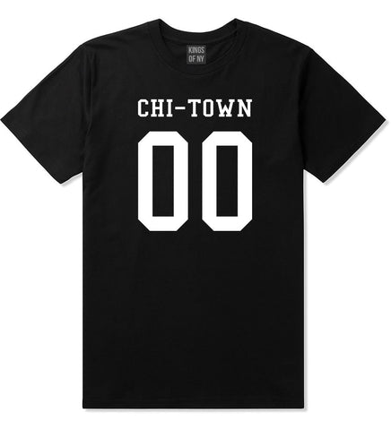 Chitown Team 00 Chicago Jersey T-Shirt in Black By Kings Of NY