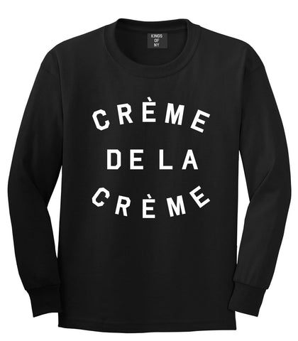 Creme De La Creme Celebrity Fashion Crop Long Sleeve T-Shirt In Black by Kings Of NY