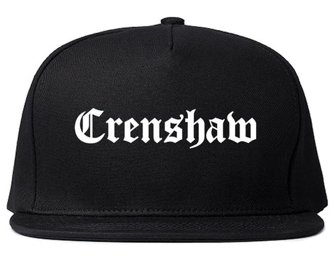 Crenshaw Old English California Snapback Hat By Kings Of NY