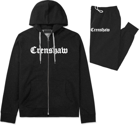 Crenshaw Old English California Premium Sweatsuit in Black By Kings Of NY