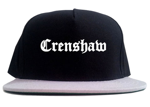 Crenshaw Old English California 2 Tone Snapback Hat By Kings Of NY