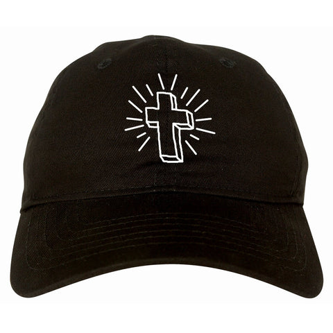 Cross of Praise Chest God Religious Dad Hat in Black By Kings Of NY