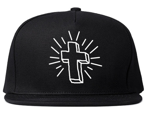 Cross of Praise Chest God Religious Snapback Hat in Black By Kings Of NY