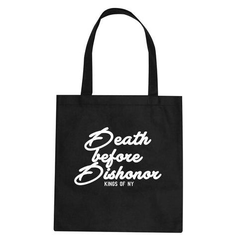 Death Before Dishonor Skulls Tote Bag By Kings Of NY