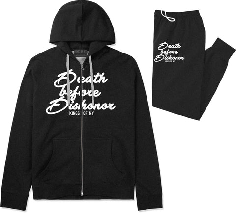 Death Before Dishonor Skulls Premium Sweatsuit in Black By Kings Of NY