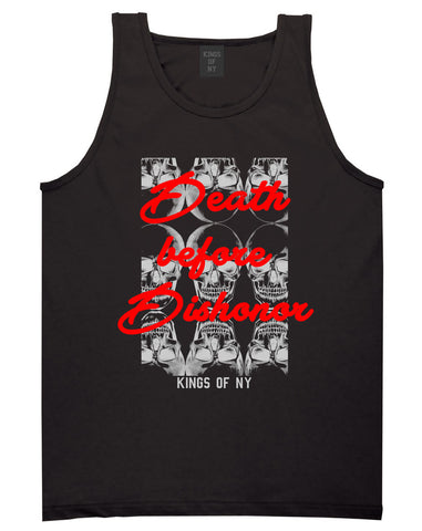 Death Before Dishonor Skulls Tank Top in Black By Kings Of NY