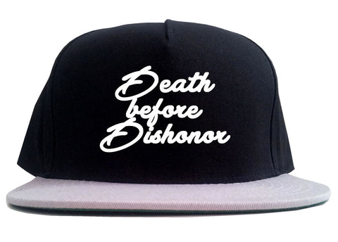 Death Before Dishonor Skulls 2 Tone Snapback Hat By Kings Of NY
