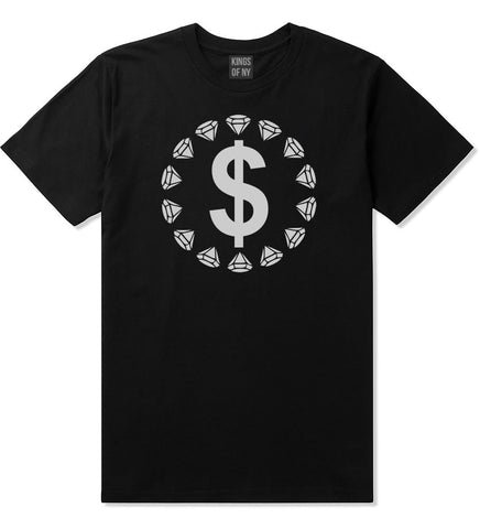 Diamonds Money Sign Logo T-Shirt in Black by Kings Of NY