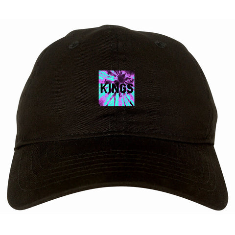 Kings Blue Tie Dye Box Logo Dad Hat By Kings Of NY