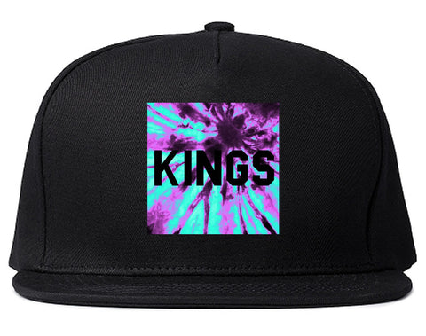 Kings Blue Tie Dye Box Logo Snapback Hat By Kings Of NY