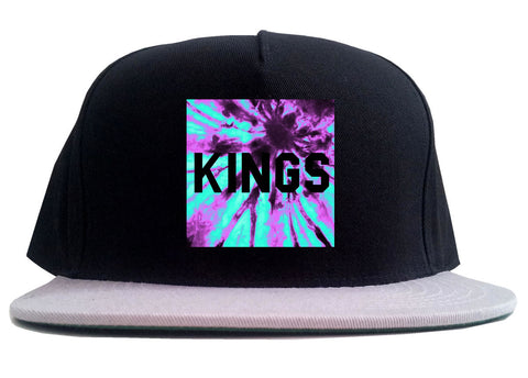 Kings Blue Tie Dye Box Logo 2 Tone Snapback Hat By Kings Of NY