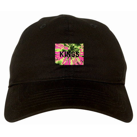 Kings Pink Tie Dye Logo Dad Hat By Kings Of NY
