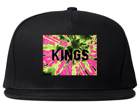 Kings Pink Tie Dye Logo Snapback Hat By Kings Of NY