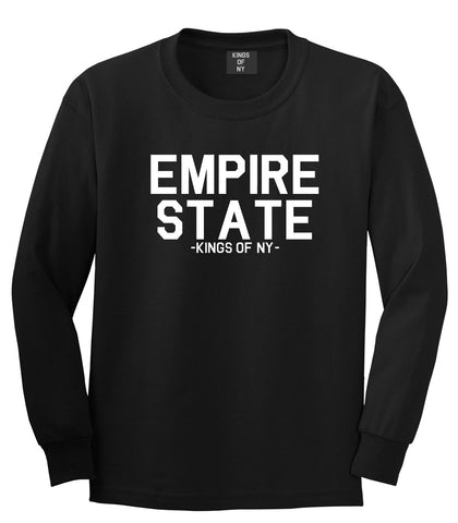 Empire State New York Building Long Sleeve T-Shirt in Black