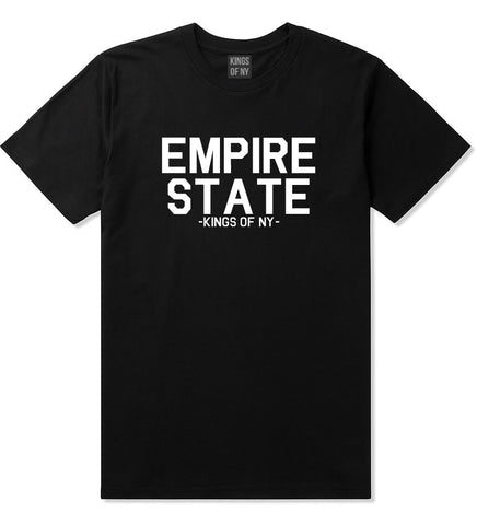 Empire State New York Building T-Shirt in Black