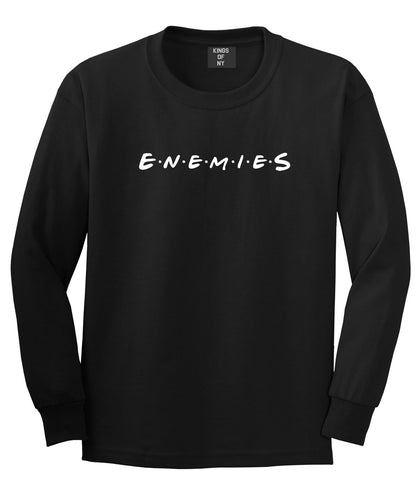 Enemies Friends Parody Long Sleeve T-Shirt in Black By Kings Of NY