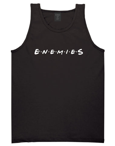 Enemies Friends Parody Tank Top in Black By Kings Of NY