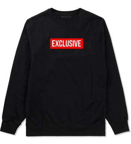 Exclusive Style logo Red by Kings Of NY Box Crewneck Sweatshirt In Black by Kings Of NY