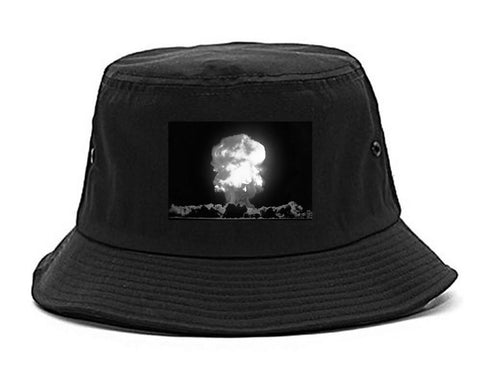 Explosion Nuclear Bomb Cloud Bucket Hat By Kings Of NY