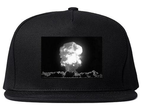 Explosion Nuclear Bomb Cloud Snapback Hat By Kings Of NY
