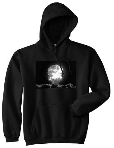Explosion Nuclear Bomb Cloud Pullover Hoodie in Black By Kings Of NY