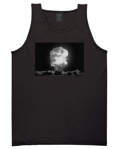 Explosion Nuclear Bomb Cloud Tank Top in Black By Kings Of NY
