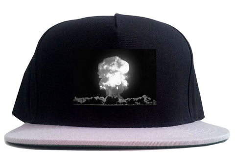 Explosion Nuclear Bomb Cloud 2 Tone Snapback Hat By Kings Of NY