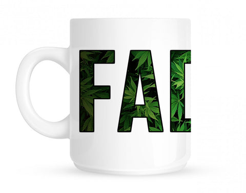 Faded Marijuana Weed Print Coffee Tea Mug By Kings Of NY
