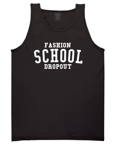 Fashion School Dropout Blogger Tank Top in Black By Kings Of NY