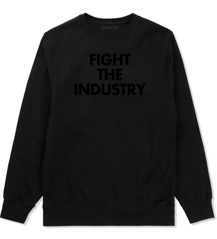 Fight The Industry Power Crewneck Sweatshirt in Black By Kings Of NY