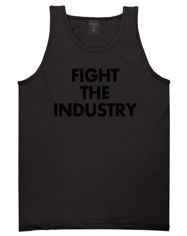 Fight The Industry Power Tank Top in Black By Kings Of NY