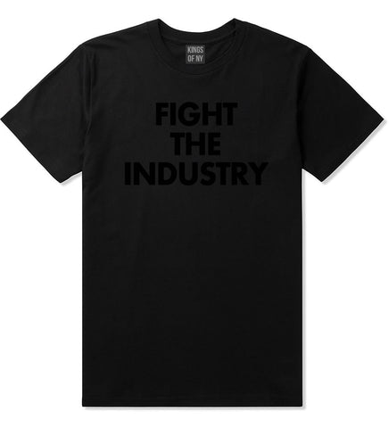 Fight The Industry Power T-Shirt in Black By Kings Of NY