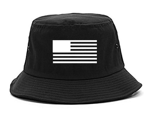 American Flag United States Goth Bucket Hat by Kings Of NY