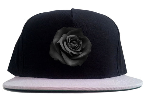 Noir Rose Flower Chest Logo 2 Tone Snapback Hat By Kings Of NY