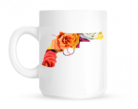 Floral Gun Flower Print Colt 45 Revolver Coffee Tea Mug By Kings Of NY