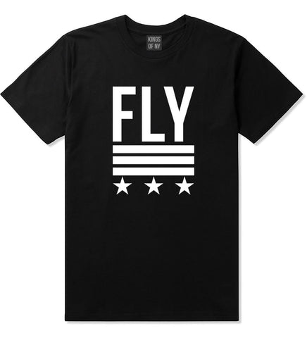 Kings Of NY Fly Stars T-Shirt in Black