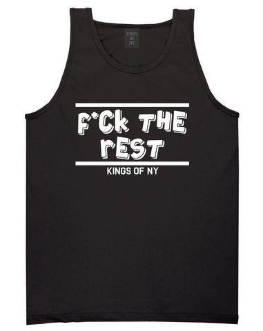 Fck The Rest Middle Finger Tank Top in Black