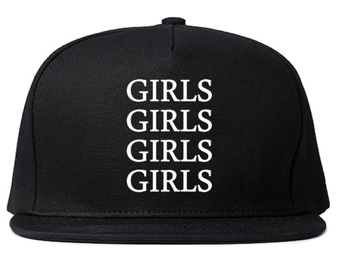 Girls Girls Girls Snapback Hat in Black by Kings Of NY