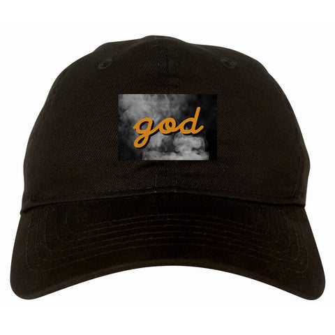 God Up In Smoke Puff Goth Dark Dad Hat in Black By Kings Of NY