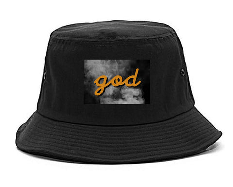 God Up In Smoke Puff Goth Dark Bucket Hat in Black By Kings Of NY