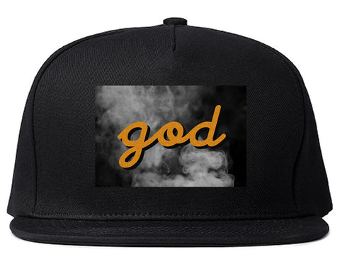 God Up In Smoke Puff Goth Dark Snapback Hat in Black By Kings Of NY