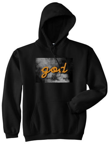 God Up In Smoke Puff Goth Dark Pullover Hoodie in Black By Kings Of NY