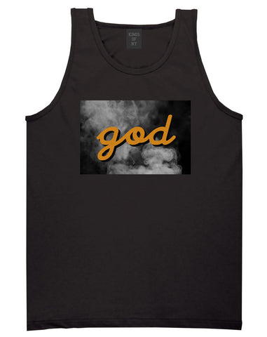 God Up In Smoke Puff Goth Dark Tank Top in Black By Kings Of NY