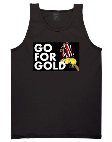Go For Gold Medals Olympics Tank Top in Black