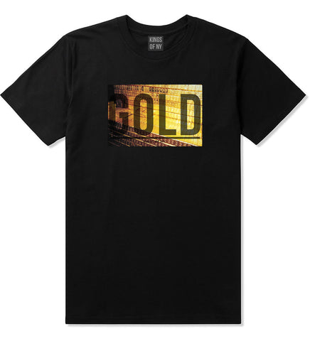 Gold Bricks Money Luxury Bank Cash T-Shirt In Black by Kings Of NY